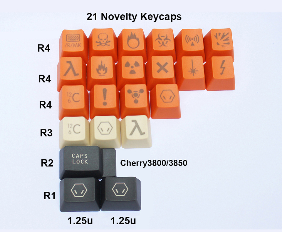 Keyboard keycaps 87-Key 108-key 125-key Carbon Keycaps Novelty Keycaps PBT Laser-Etched for Switches of Mechanical Keyboards Color : 87 Top Print