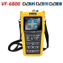Localizador satélite VF 6800 DVB T2 DVB S2, batería de 2000mA, medidor buscador de satélite MPEG4, LCD de 2,4 pulgadas, DVB T, DVB C, HD