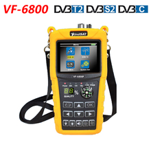 VF 6800 DVB T2 DVB S2 DVB C Satellite Finder 2000mA Battery MPEG4 Sat Finder Meter 2.4 inch LCD DVB T DVB S HD Digital Satfinder