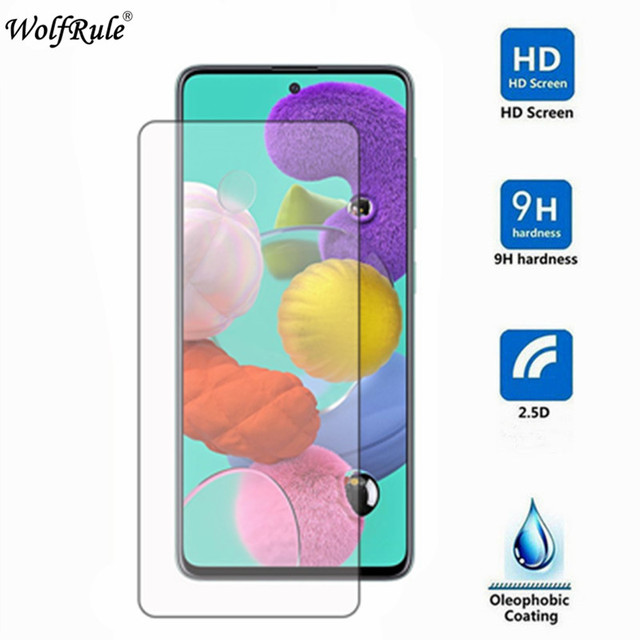 2PCS Glass For Samsung Galaxy A51 Screen Protector For Samsung A51 Tempered Glass A51 SM-A515FN Glass 2.5D Anti-scratch Film