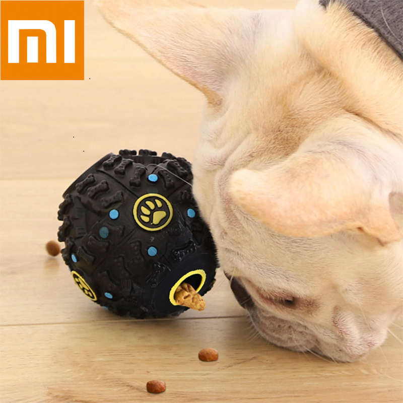 Xiaomi XiaoShouXing Pet Automatic Leaking Food Funny Interactive Dog Vocal Ball Stimulating Grinding Teeth  Pet Toys Puppy Train