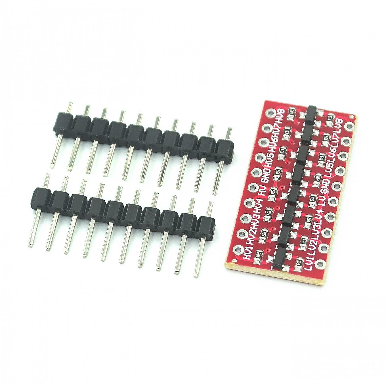 10 шт./лот I2C IIC 8-канальный модуль преобразователя логического уровня двунаправленный модуль с шагом до 3,3 В до 5 В