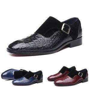 Image 1 - 2020 בעבודת יד עור אבזמי גברים של שמלת נעלי עסקי נעלי אוקספורד פורמליות חתונה משרד גבר נעלי הנעלה לנשימה