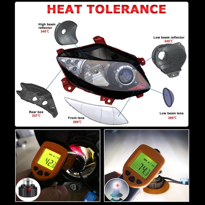 4-Sides 9012 72W 6000K 16000LM Car LED Headlight Fog Bulbs Light Low Beams US