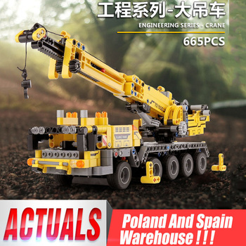 Yeshin 701800 Techinc Toys Compatible 42009 Mobile Crane MK II Set Assembly Kit Toy Christmas Gift Building Blocks Bricks image