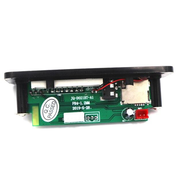 DC 12V Bluetooth 5.0 MP3 WMA Decoder Board Audio Module USB TF FM Radio AUX MP3 Player Handfree For Car Support Recording 3