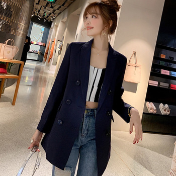 2020 new spring and autumn elegant womens blazer Casual feminine suit with high quality Office jacket loose