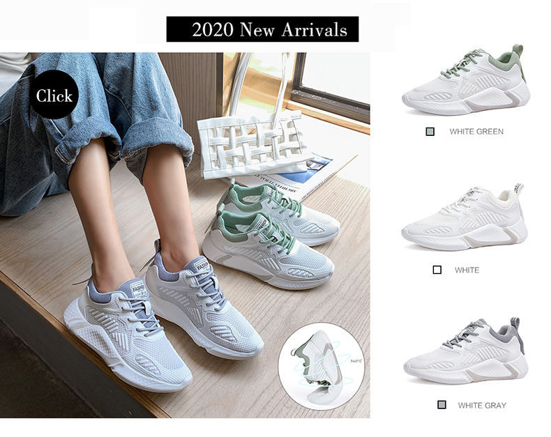 2020 Women Sneakers White Casual Platform Sneakers Summer Mesh Running Walking Shoes Trainers Women Sport Shoes Vulcanize Shoes