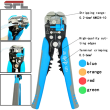 цена на 3 in 1 Multi tool Automatic Adjustable Crimping Tool Cable Wire Stripper Cutter Peeling Pliers blue repair diagnostic-tool