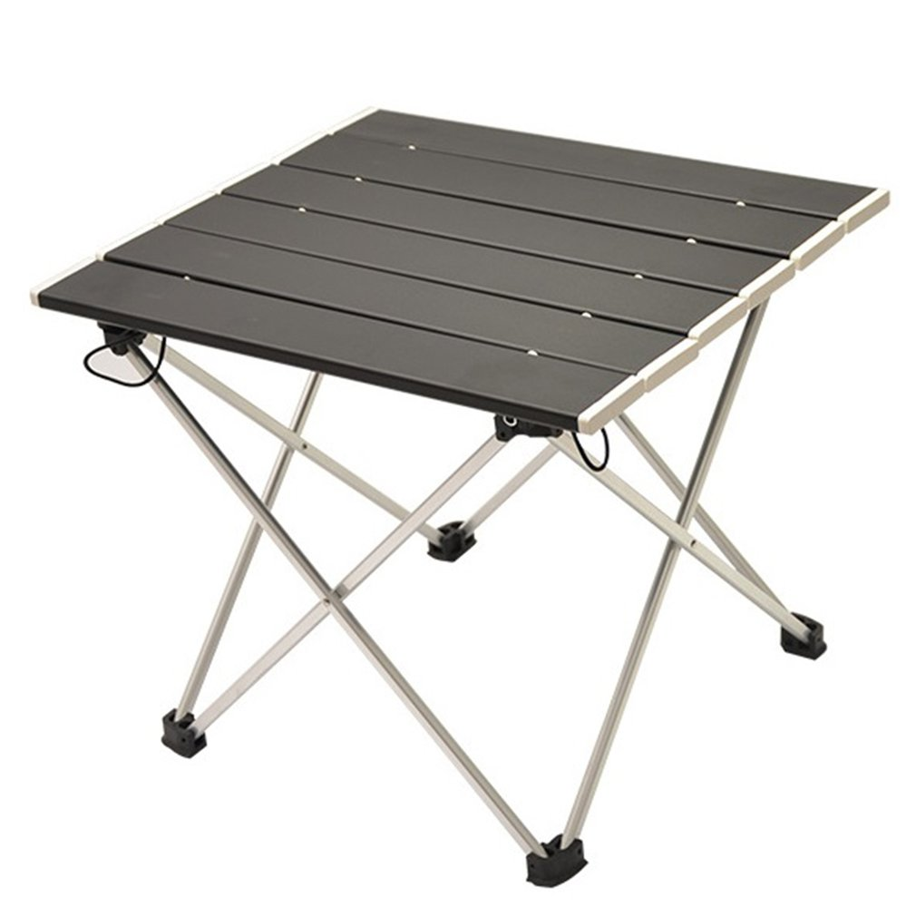 Portable Folding Aluminum Roll Up Table Lightweight Outdoor Camping Picnic Simple Furniture Camping Table Tea Table