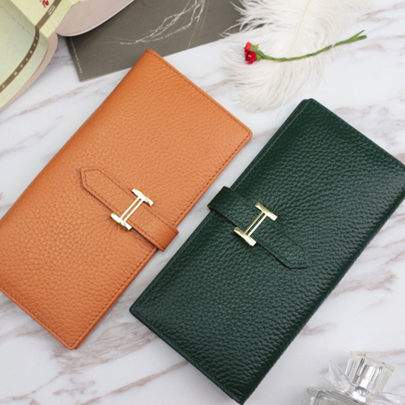 New Fashion Cell Phone Wallet Purse Genuine Leather Card Holder Hot Sale Womens Purses And Handbag Designer Long Card Wallet