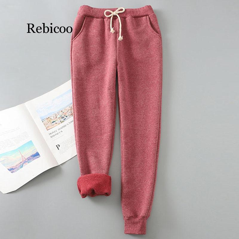 Winter Cashmere Harem Warm Pants Women 2019 Causal Trousers Women Warm Thick Lambskin Cashmere Pants Women Loose Pant