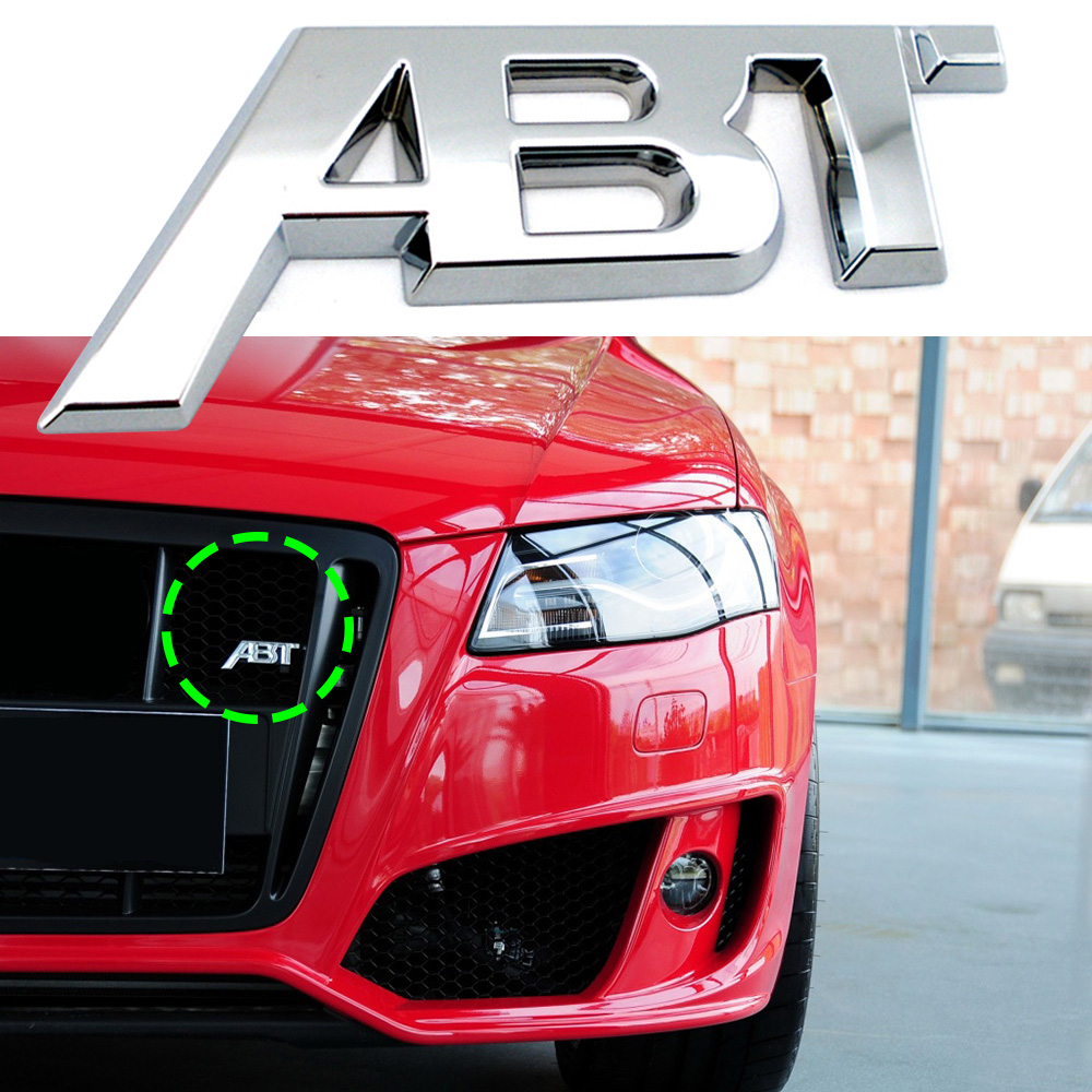 Car <font><b>Grill</b></font> ABT Logo Nameplate For <font><b>Audi</b></font> <font><b>S1</b></font> QS7 TT RS3 SQ2 RS6 RS7 SQ7 A3 RS4 RS5 SQ8 A8L S4 A6 S6 A4 Q5 A1 S5 S4 A5 3D Accessories image