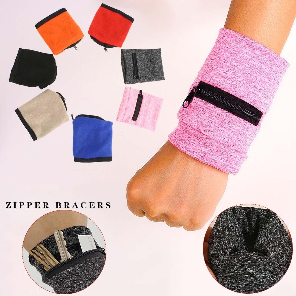 Wrist Wallet Pouch Fashion New Men Women Band Zipper Running Travel Gym Cycling Safe Sport Keys Coin Storage Bag #W3