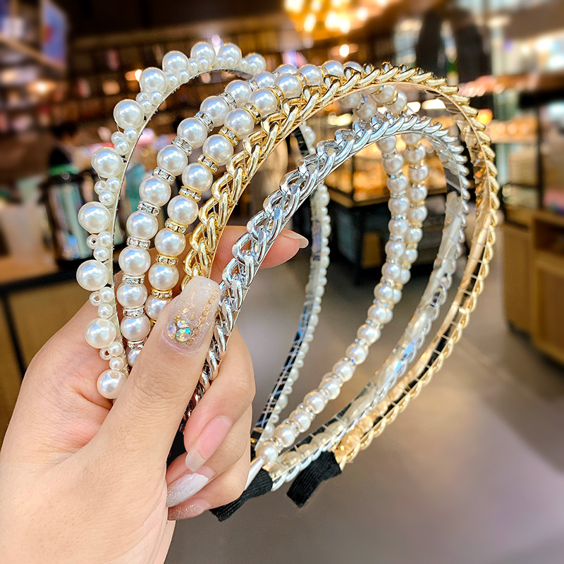 Sweet Cute Pearls Hairbands Fashion Headband Hair Hoops Holder Ornament Head Band Lady Korean Hair Accessories for Girls