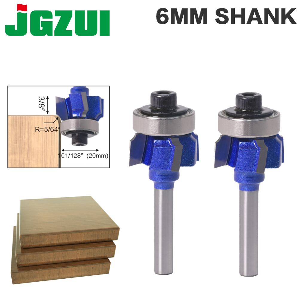 1PC 6mm Shank High Quality Woodworking Milling Cutter R1mm R2mm R3mm Trimming Knife Edge Trimmer 4 Teeth Wood Router Bit