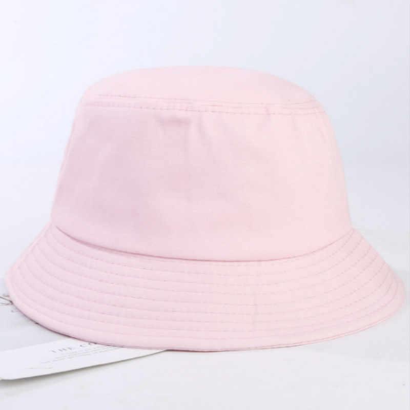 Zwykły 100% kapelusz bawełniany Hip Hop lato na świeże powietrze kapelusz wędkarski kobiety puste Diy Panama mężczyźni rybacy kapelusz przeciwsłoneczny Sunhat