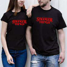 Stranger Things Letter Print T Shirt Women Short Sleeve O Neck Loose Tshirt 2019