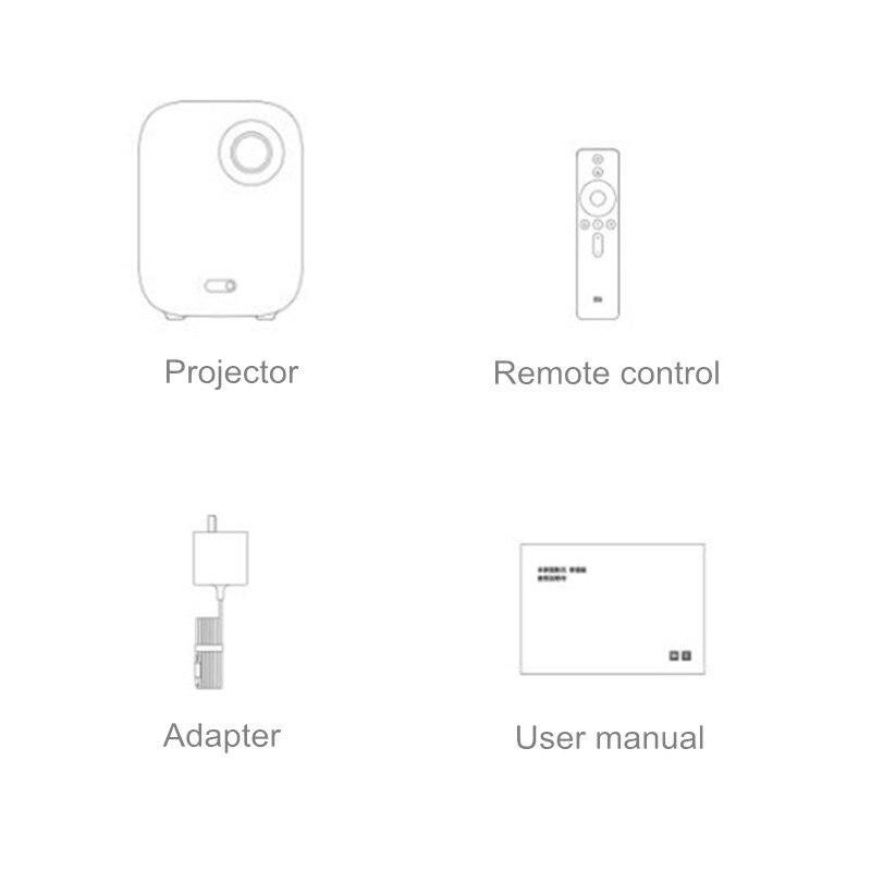 2019 Xiaomi Mijia Mini projecteur DLP 1080P Full HD AI télécommande vocale 500ANSI 4K vidéo 3D WIFI Proyector projecteur Portable - 5