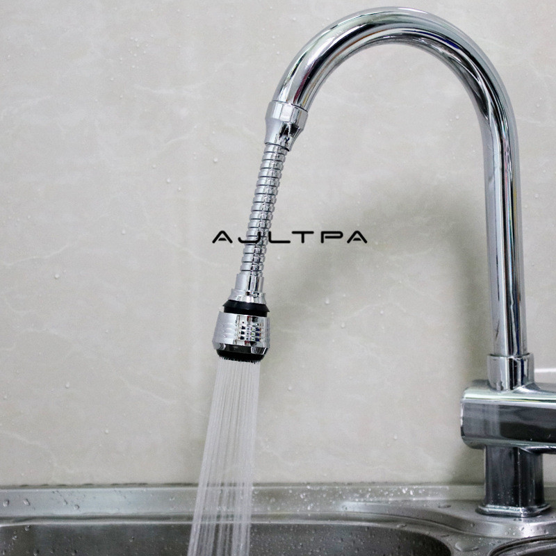 300Pcs 360 Rotatable Extension Bubbler Faucet Shower Head Lengthener Water Saver Splashproof Spout Mouth Faucet Filter