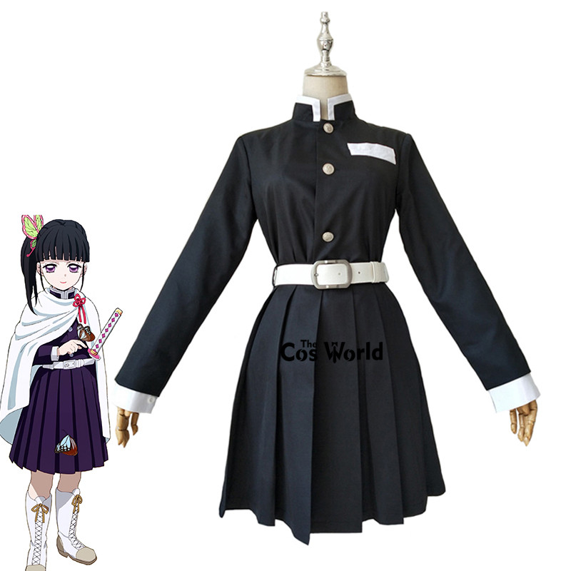 Demon Slayer: Kimetsu No Yaiba Tsuyuri Kanawo Team Uniform Tops Dress Outfit Anime Cosplay Costumes