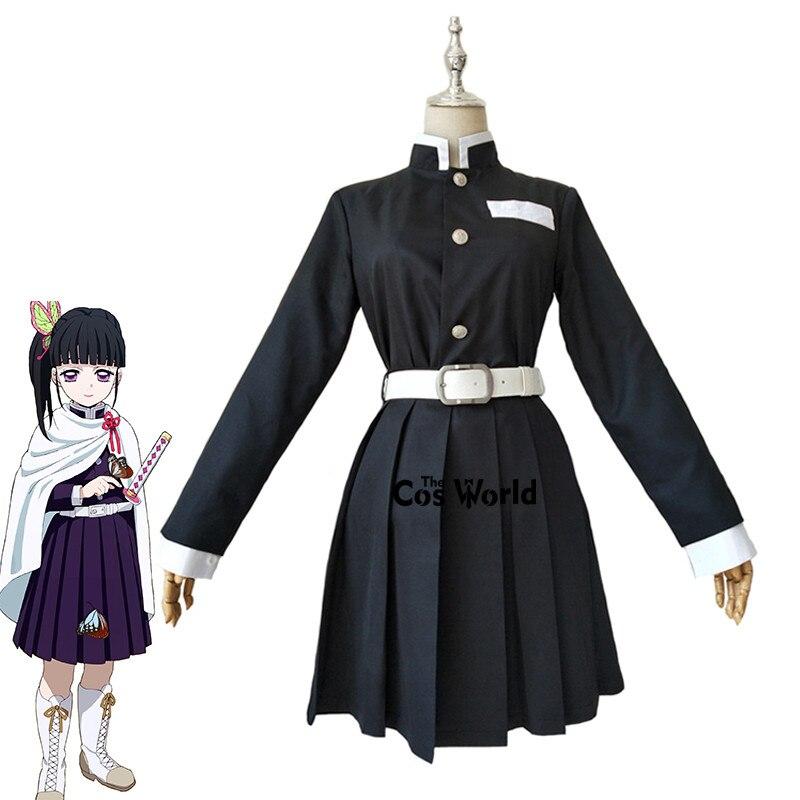 Истребитель демона: Kimetsu no Yaiba Tsuyuri Kanawo, командная форма, топы, платье, наряд, аниме, костюмы для косплея| |   | АлиЭкспресс