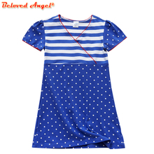 Girls Dresses Baby Girls Summer Dresses Kids Cotton Clothing Casual Clothes for 3-8yrs Children Princess Dress for Party Wedding стоимость