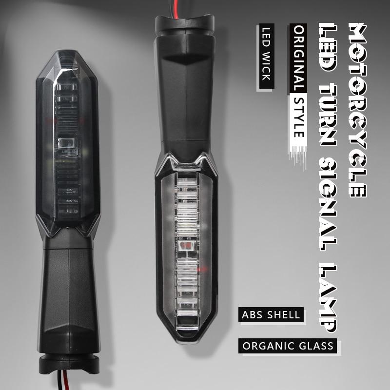 Универсальный мотоцикл светодиодный поворотник светильник индикатор мигалкой лампы для Kawasaki Z1000SX Z750 Z1000 Z650 Z900 Z800 Z250 Z300