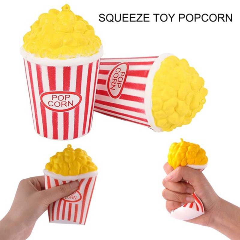 Super Cute Popcorn Cake Hamburger Squishy Unicorn Milk Slow Rising  Squeeze Toy Scented Stress Relief For Kid Fun Gift Toy