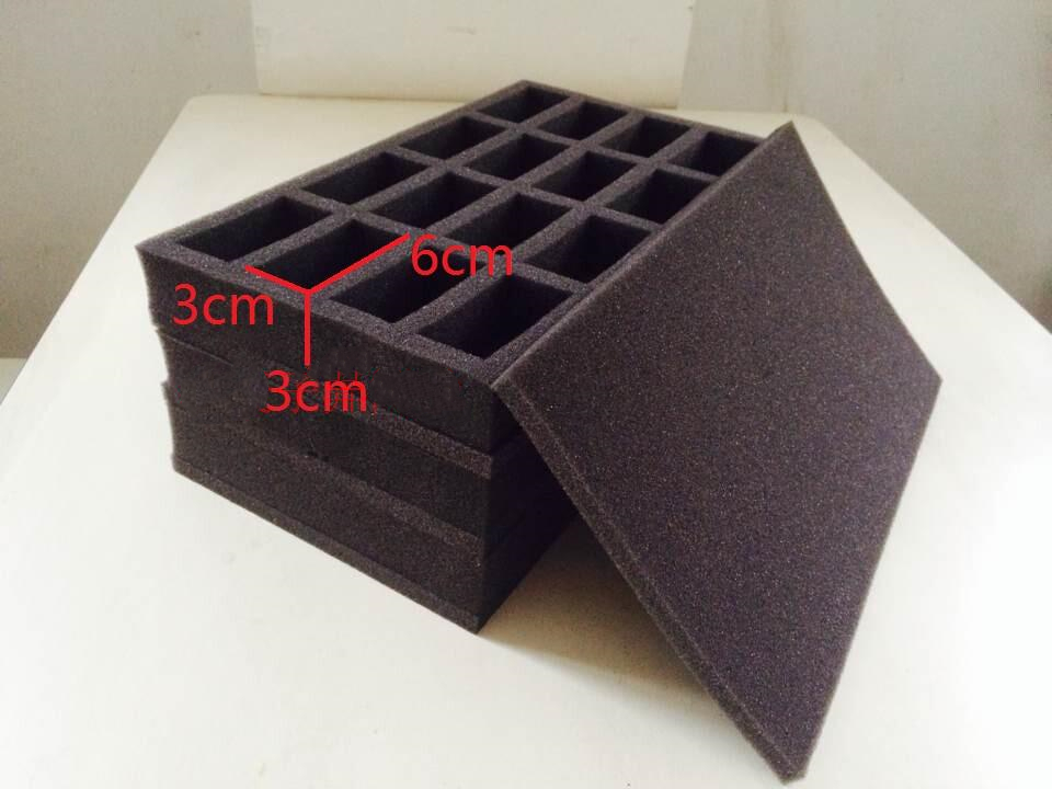 DIY Storage Protection Anti Collision Sponge For Tabletop TRPG Game Hammer Model Portable PP Infinity RPG Grid Wave 4Color