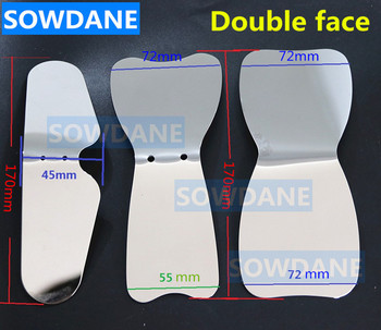 Double sides Dental Orthodontic Teeth Whitening Autoclavable Dental Photographic Mirror Reflector Double-Side Stainless Steel