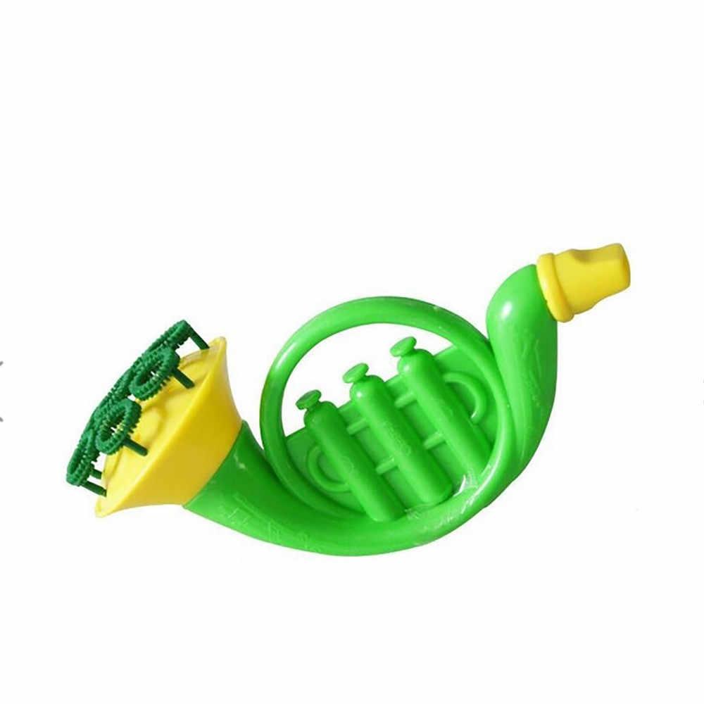 Modis dan Indah Anak-anak Gelembung Bertiup Mesin Mainan Gelembung Sabun Gelembung Gelembung Mainan Tanduk Kecil Busa Mesin Outdoor Mainan