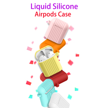 Liquid Silicone Case For Original Apple Airpods 1 2 Soft Trunk Cartoon Cute Cover Air pods Accessories Coque
