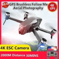 Professional GPS Follow Me Brushless Remote Control Quadcopter 5G 2KM 30Mins Long Time 4K ESC Camera WIFI FPV RC Drone VS F11 X6