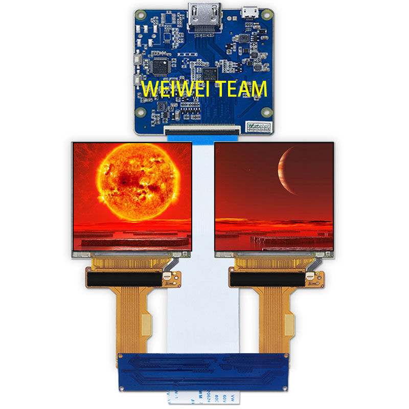 2.9 inch 1440*1440 dual screen IPS LCD display panel MIPI interface with HDMI controller board for VR AR headset application(China)