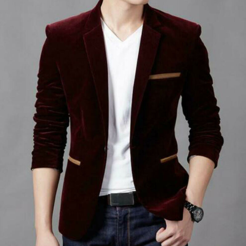 2019 New Fashion Man Suit Jackets Spring Autumn England Style Full Sleeve Length Regular Clothing Length Single Breasted