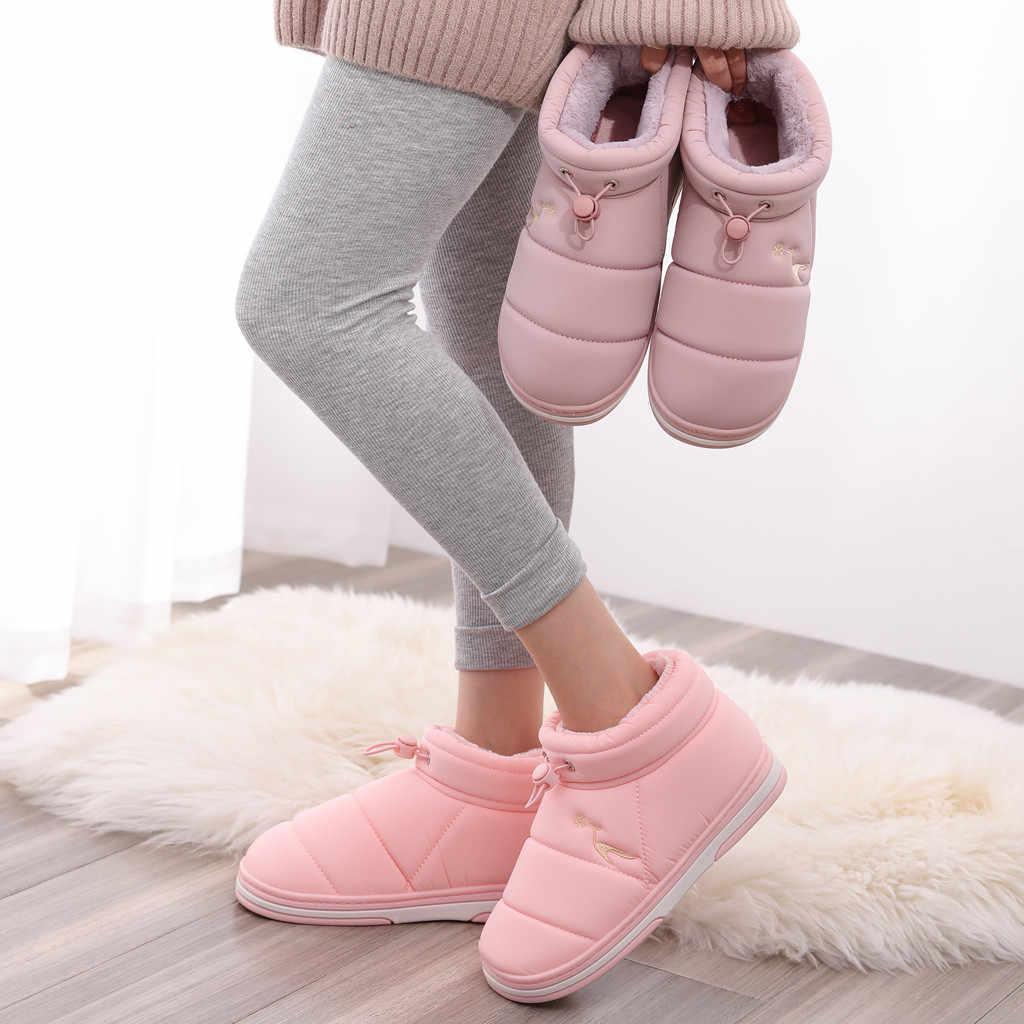 2019 mode hiver chaussures femme rose bottines femmes plate-forme neige bottes cordon plat chaud Bootie offre spéciale grande taille