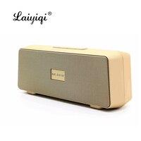 Laiyiqi hot square wireless Bluetooth speaker FM Radio portable dual speakers enceinte bluetooth puissant caixa de som ch2 dia