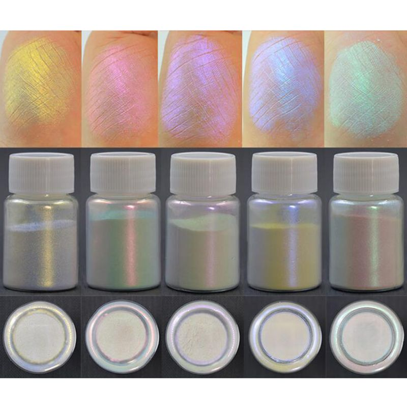 5Pcs Magic Aurora Resin Mica Pearlescent Pigments Colorants Resin Jewelry Making