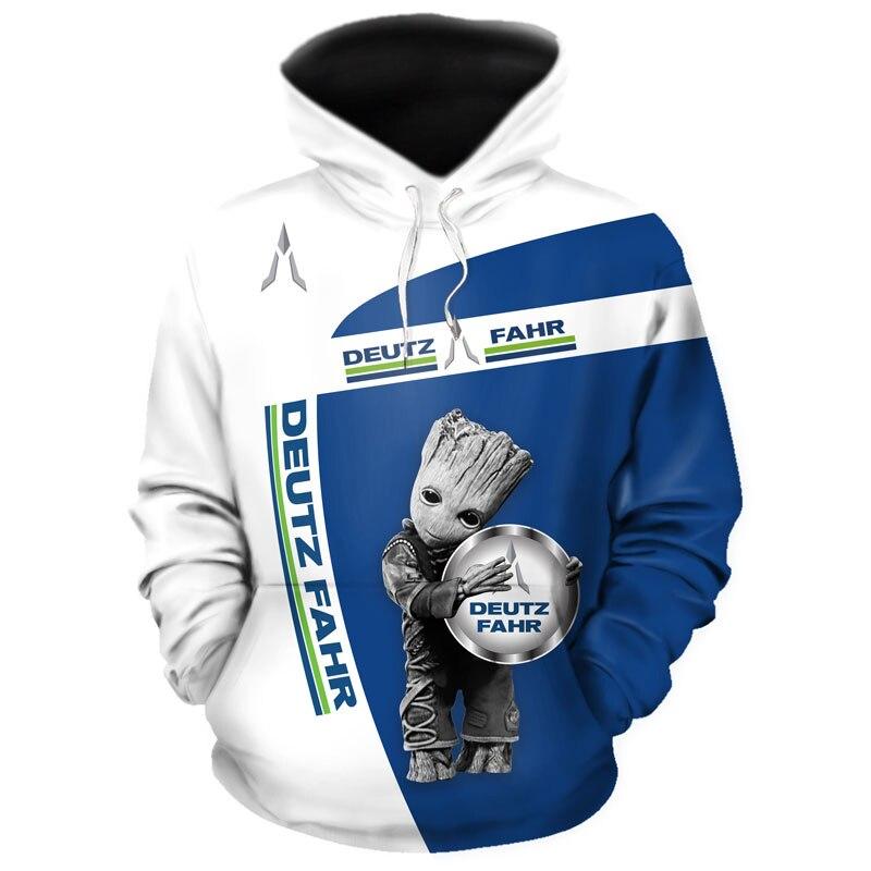 DEUTZ FAHR-новый мужской пуловер с 3D принтом, Модный повседневный высококачественный свитшот в стиле Харадзюку, брендовая мужская мотоциклетная Толстовка