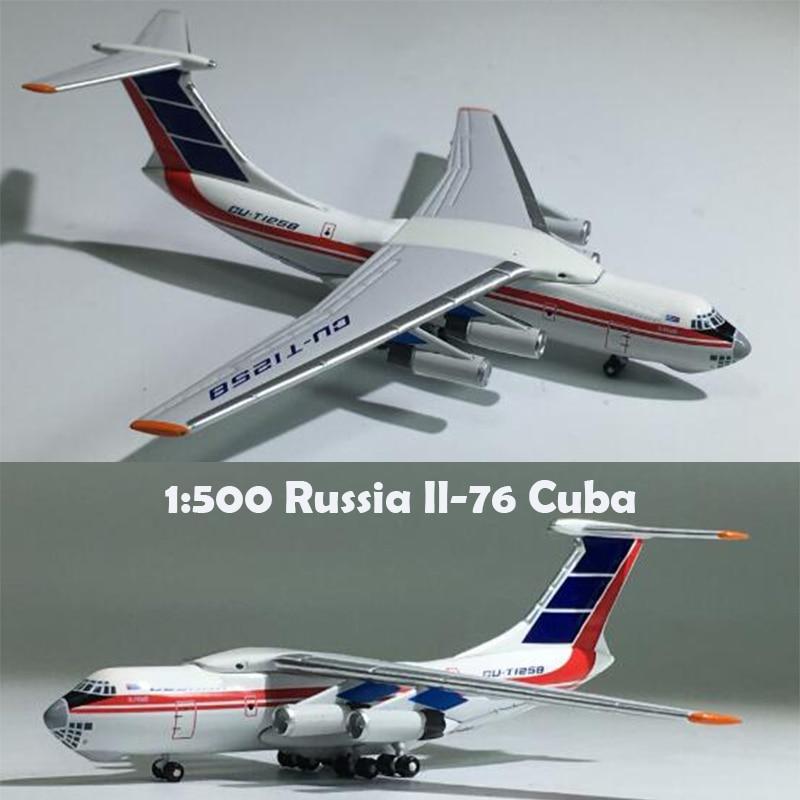 Rare  1:500  Russia Il-76  Cuba Aircraft Model Cu-t1258  Alloy Collection Model