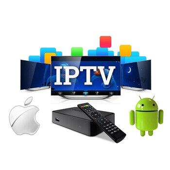 3 6 9 12 meses 4K HD francia italia Europa deporte m3u canales Android tv Box España Reino Unido EE. UU. -1 año IPTV suscripción set-top box