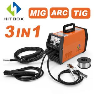 HITBOX Updated Mig Welder MIG ARC TIG Synergy Control 220V Gas Gasless Welding Machine HBM1200 Inverter Welding Machines(China)