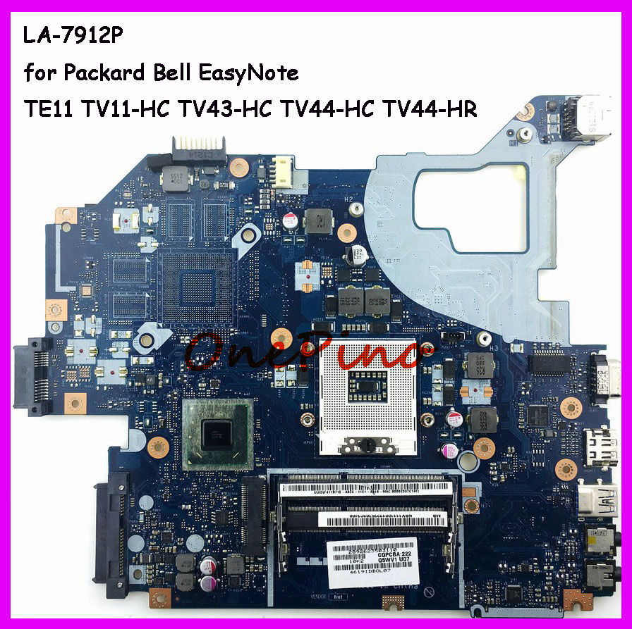 NBC1F11001 LA-7912P Fit For For Packard Bell EasyNote TE11 TV11-HC TV43-HC TV44-HC TV44-HR Laptop Motherboard Q5WTC L51 Tested