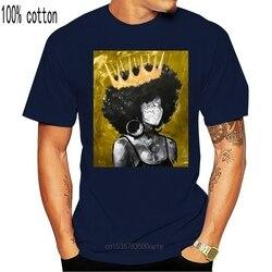 Naturalnie królowa Ii złoty niestandardowy projekt druku dla mężczyzn kobiety bawełna nowy fajny Tee T shirt duży rozmiar 6xl naturalnie czarny