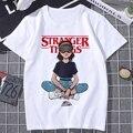 Женская летняя футболка с принтом «очень странные дела», женская футболка с коротким рукавом в стиле Харадзюку, Повседневная модная футбол...