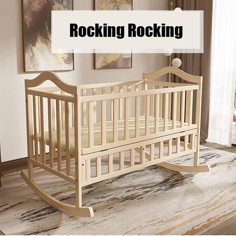 Keine Strahlung Elektrische Schaukel Babywiege, Baby Schaukel Kiefer - Babymöbel - Foto 4