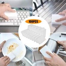 100 pçs/lote Esponja Esponja Mágica do Eliminador Da Melamina Cinza Branco Limpador Multi-funcional Nano Limpeza Esponjas de Limpeza #40