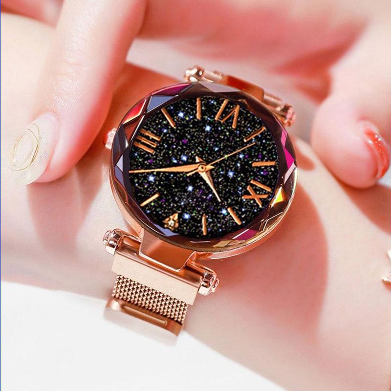 2020 Women's Watch Magnetic Starry Sky Ladies Watch Women Quartz Wristwatch Dress Female Clock Relogio Feminino Zegarek Damski