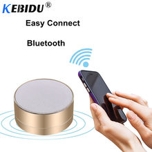 Kebidu Mini Metal Wireless Bluetooth Speaker Portable Stereo Sound Speakers Audio Music Player Support TF Card USB AUX Cable(China)